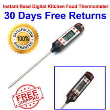 Instant Read Food Thermometer Digital Electronic Meat Kitchen Cooking BBQ Grill