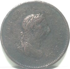 1807 Great Britain one penny George Iii copper coin. Circulated