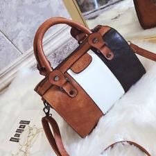 Oil Wax Women Handbags Hot Sale High Quality Patchwork Messenger Shoulder Bag