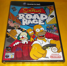 THE SIMPSONS ROAD RAGE Nintendo GameCube I Simpson Ver Italiana 1ª Ed NUOVO - AI