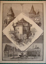 Antique print Goslar 1880 holzstich