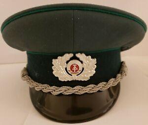 Vintage East Germany Army Officer's Silver Bullion Visor Hat Cap Mdl 57 1856 D
