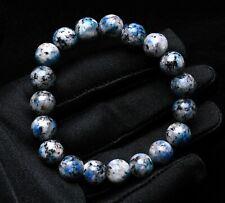 10mm Natural K2 Beautiful Blue Azurite Granite Matrix Gemstone Beads Bracelet