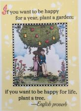 Mary Engelbreit Artwork-If You Want To Be Happy-Handmade Magnets