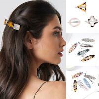 Women Girls Resin Hair Clip Barrette Hairpin Bobby Pin Hair Accessory Fashion