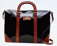 Kate Spade Patent Black Barclay Street BRADLEY BAG BROWN Satchel Handbag LUGGAGE