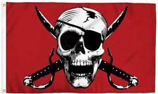 Crimson Pirate Pirate 3x5Ft Flag Dorm Restaurant Bar Boat Buccaneer Man Cave