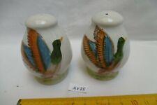 anciens sel poivre en porcelaine à décor de canards colvert (AV78)