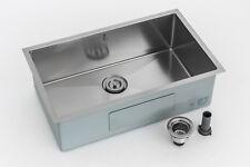 Undermount Stainless Single Bowl Kitchen sink Steel 30 in. 0-Hole 10-Radius