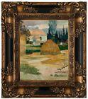 Gauguin Landscape near Arles 1888 Wood Framed Canvas Print Repro 8x10