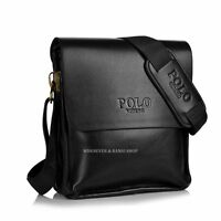 Fashion Men's Genuine Leather Shoulder Bag Messanger Bag Casual M157H Black