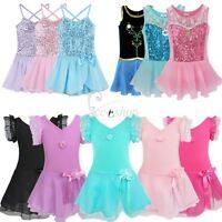 Girls Gymnastics Ballet Dresses Toddler Kids Leotard Unitard Dancewear Clothing