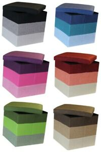 LINEAR SMALL STORAGE BOX FOLDING CUBE FOOT STOOL REST SEAT LID LINES STRIPES