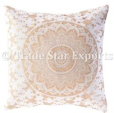 Square Pillow Cases Ombre Mandala Cushion Cover Indian Floor Pillow Throw Decor
