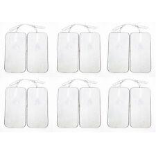 "12Pcs 2""*4"" Rectangle Replacement Electrode Pads for Digital Massager/Tens Unit"