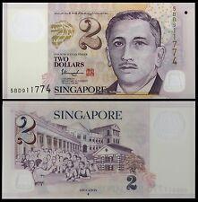 Singapore 2 Dollars, 2005, P-46d, UNC