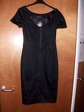 BNWT FCUK French Connection @ ASOS Black Knee Length Formal Cocktail Party Dress
