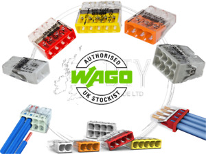 Wago 2273 SLIM Series Electrical Port Connectors Compact Push Wire Block Cable