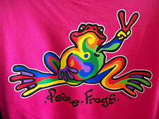 NEW PEACE FROGS CRANBERRY RETRO XXX-LARGE ADULT T-SHIRT