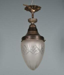 *Vintage French & Cut Glass Hanging Lamp/Chandelier