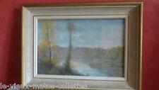 tableau Pastel / paysage vue sur rivière /signé de Eugène SENAMAUX (XX)