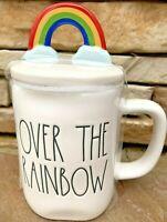 Rae Dunn Over The Rainbow Mug w/ Rainbow Figural Topper - St. Patrick's Day