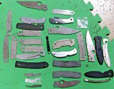 Spyderco knife parts 30 piece knife parts, shield, blades, handles