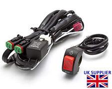 Motorcycle Spot Fog Driving Light Wiring Loom Harness Switch Kit Quad ATV UTV