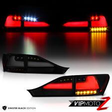 DARKEST SMOKE Full LED Tail Lights Fit 2011-2013 Lexus CT200H NEON TUBE Parking