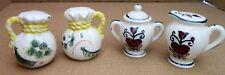 Sugar Bowl and Creamer plus Saddle Bag Salt and Pepper Shaker Lot of 2 Sets