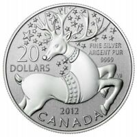 Canada 2012 $20 for $20 Magical Reindeer Fine Silver Coin - Coin Only
