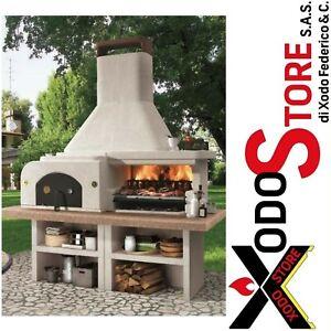Barbecue a legna e carbonella PALAZZETTI GARGANO 3 con forno - mail per sconto