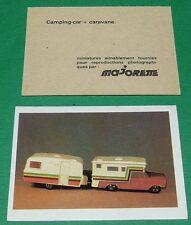CAMPING-CAR + CARAVANE ECOLE BON-POINT MINIATURE MAJORETTE 1970 70's