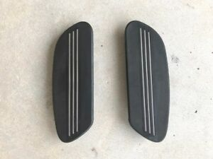 Harley Foot Boards - Running Boards - 1993 up Touring Models  - 2 x Rubber Pads