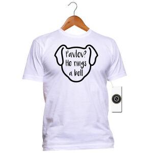 Funny Dog T-shirt - Pavlov? He rings a bell - 100% Cotton - Dog Lover tshirt