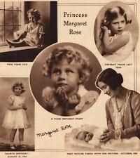 PRINCESS MARGARET. Princess Margaret Rose as a child 1937 old vintage print