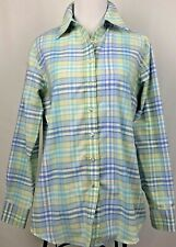 Lands' End Women's Plaid Button Down Shirt Size Small 6-8 Collared Camping