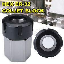 ER-32 Hex Collet Block Spring Chuck Collet Holder For Lathe Engraving Machine