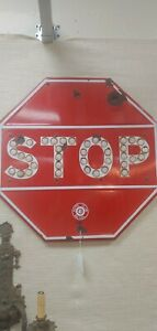 PORCELAIN STOP SIGN SO CAL AUTO CLUB SO CAL WITH REFLECTORS