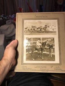 "Santa Anita 1939 ""Winner's Circle"" Horse Racing Photo -  Lithorome"