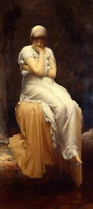 Frederick Leighton Solitude Giclee Canvas Print Paintings Poster LARGE SIZE