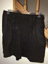 Women's Basix By Hanasport California Black Dress Shorts Size 18