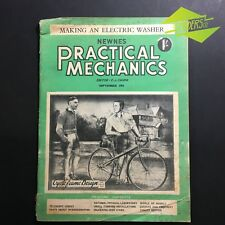 "SEP 1951 'PRACTICAL MECHANICS' NEWNES ""CYCLE FRAME DESIGN"" ELECTRIC WASHER"