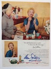 """Ann Sothern Signed 13.5x10 Magazine Page Advertisement for """"Avon Cosmetics"""""""