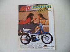 advertising Pubblicità 1987 MOTRON GTO 50 LIVE