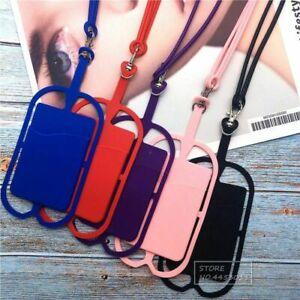 Silicone Phone Lanyard Holder Case Cover Universal Neck Strap Necklace Sling UK