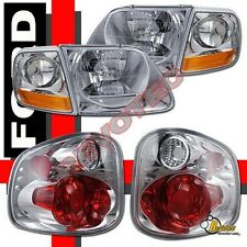 01-03 Ford F150 SVT Supercrew Harley Davidson Headlights Corner + Tail Lights