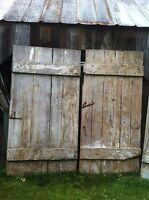 Vintage Primitive Rustic Pair of  Barn Doors Table top Wedding Decor