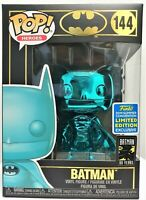 Funko Pop Batman Teal Chrome # 144 Batman SDCC 2019 Limited Edition Brand New