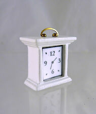 Ashley Dollhouse Miniature HALF SCALE Mantle Clock, WHITE, A134.5